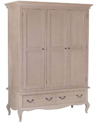 French Oak Triple wardrobe